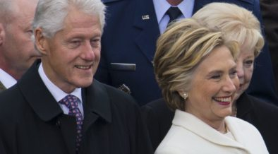 The Clintons at the 58th Presisdential inauguration, 2017.