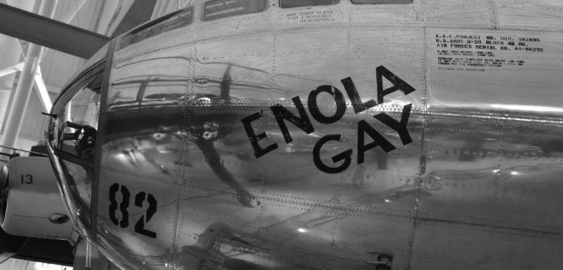 Enola Gay, Boeing B-29 Superfortress bomber, named after Enola Gay Tibbets, the mother of the pilot, Colonel Paul Tibbets.