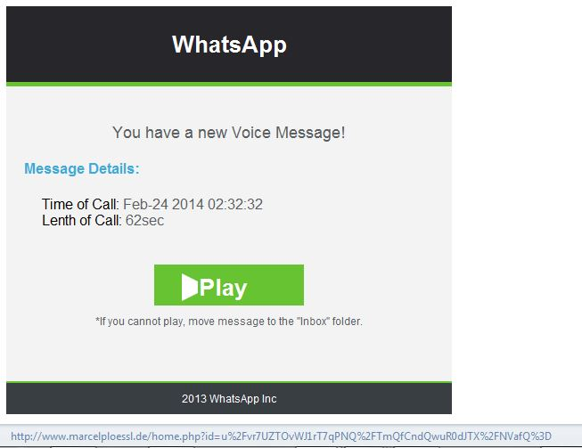 WhatsApp Notification of a Voice Message-Virus! - Truth or