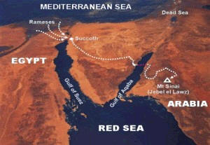 Chariot wheels in red sea