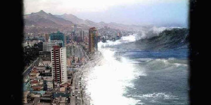 Picture of Tsunami in South Asia-Fiction!