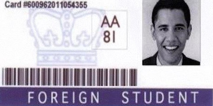 Truth Barry The Or Soetoro-fiction Fiction Foreign Card Identification Student - Of