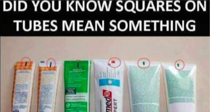 Colored Squares On Toothpaste Show What S Inside Fiction Truth