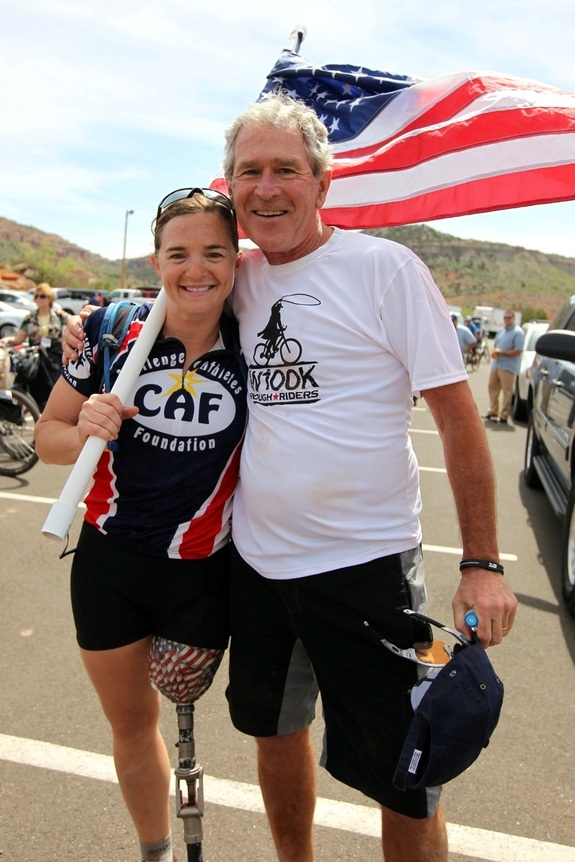 Photo Of President George W Bush Dancing With Wounded