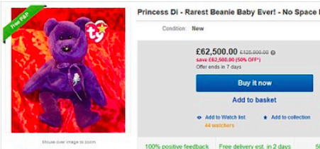 Couple Sells Princess Diana Beanie Baby for  93 cc4ea88a99f