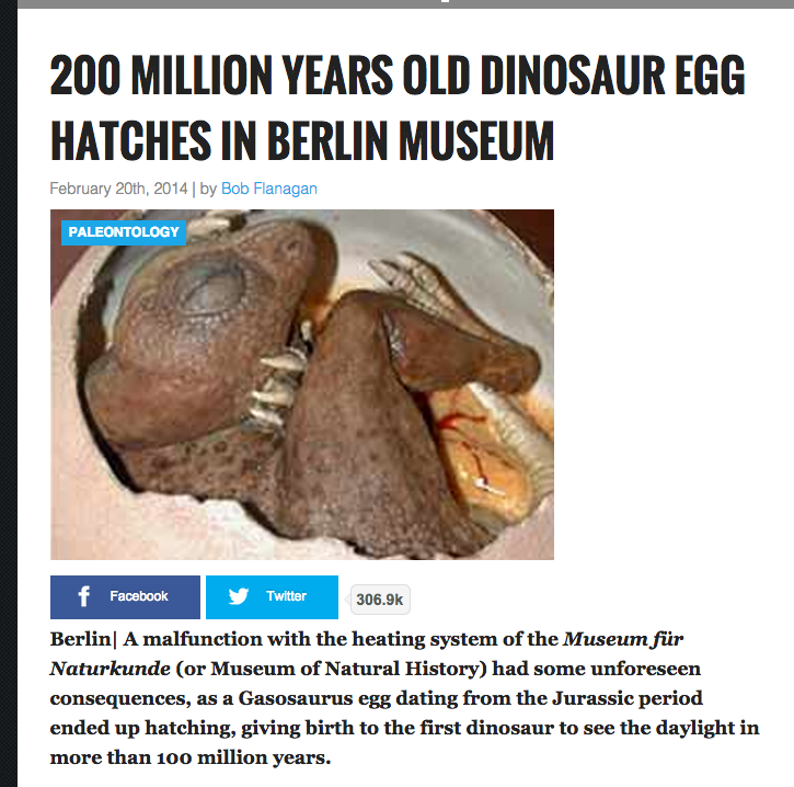 Dinosaur Egg Hatches at Museum in Berlin