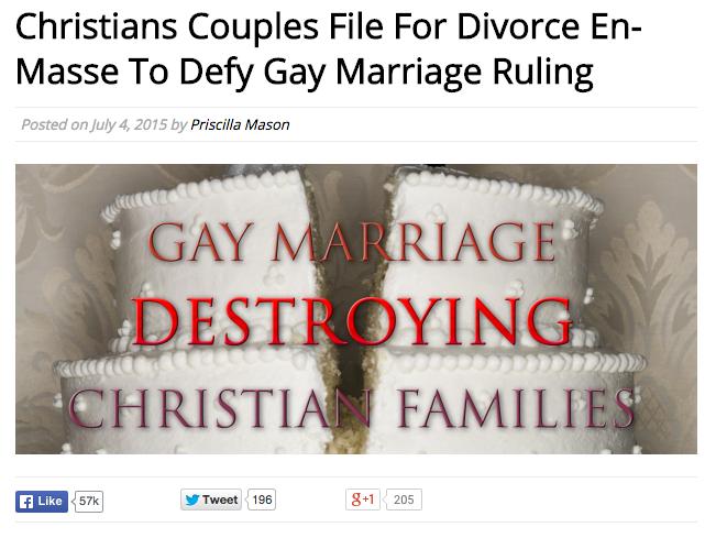 Christian Couples Stage Mass Divorces to Protest Gay Marriage Ruling
