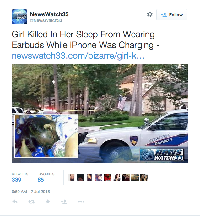 Earbuds Lead to Death By Electrocution