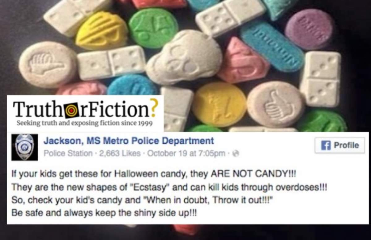 Mississippi Police Delete Post About 'Ecstasy' Candy Halloween Plot