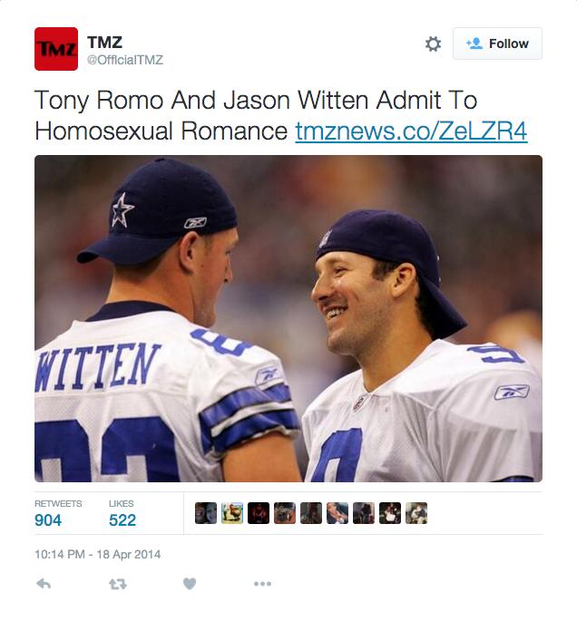 Tony romo gay rumor