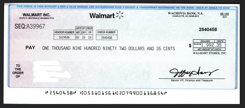 Walmart Check for Quality Control Program-Scam!