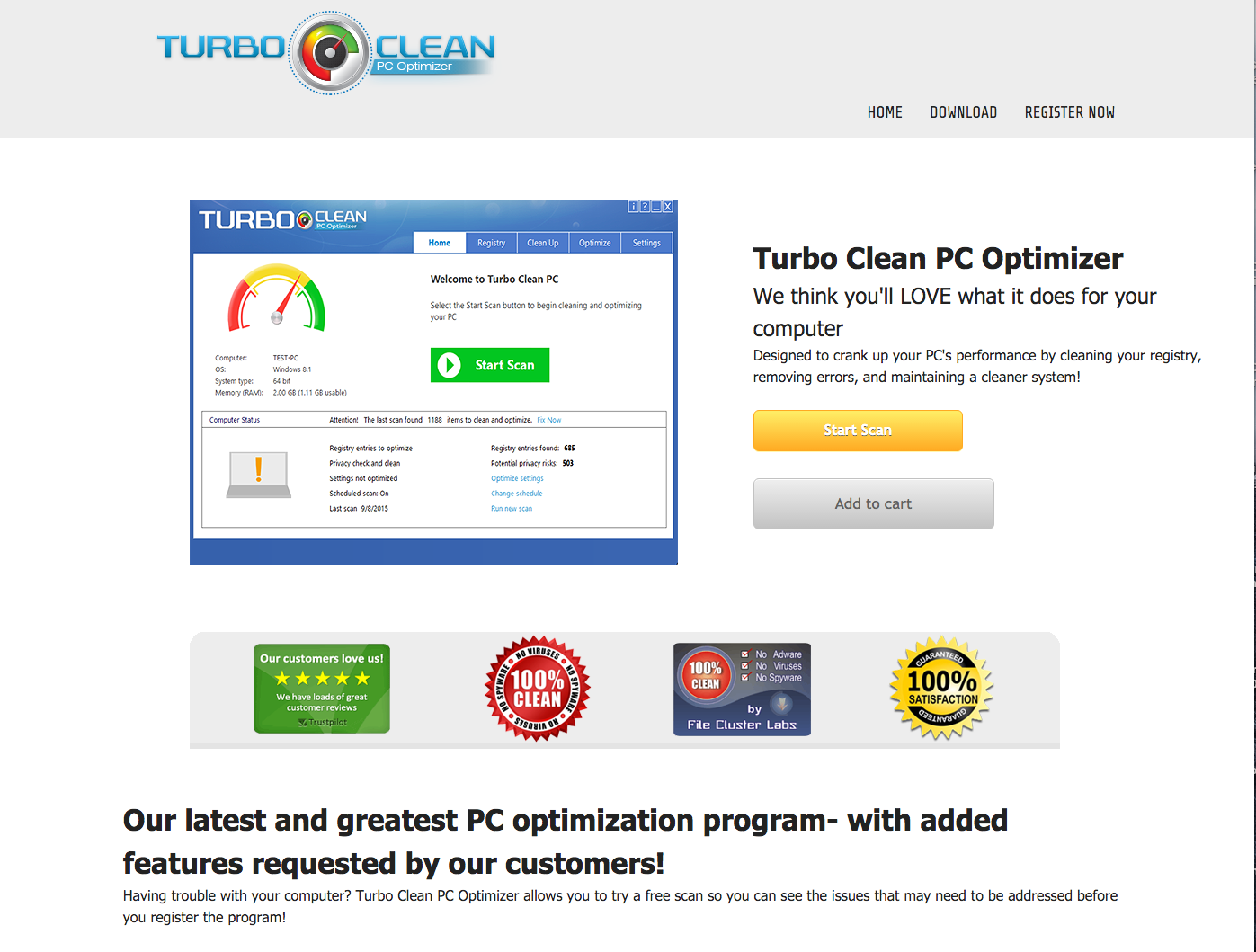 Turbo Clean PC Free Download Offer-Virus! - Truth or Fiction?