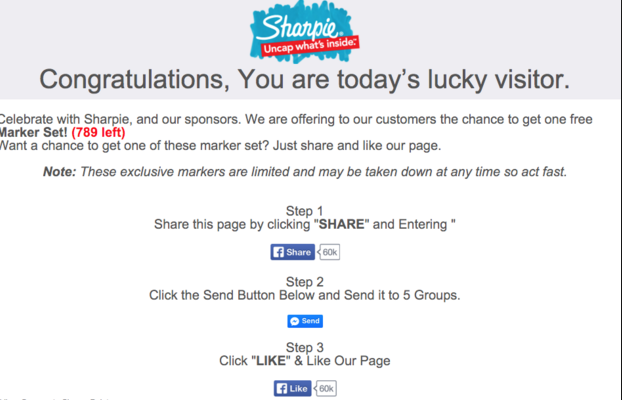 Good Morning America Zuckerberg Give Away : Free sharpie marker giveaway scam