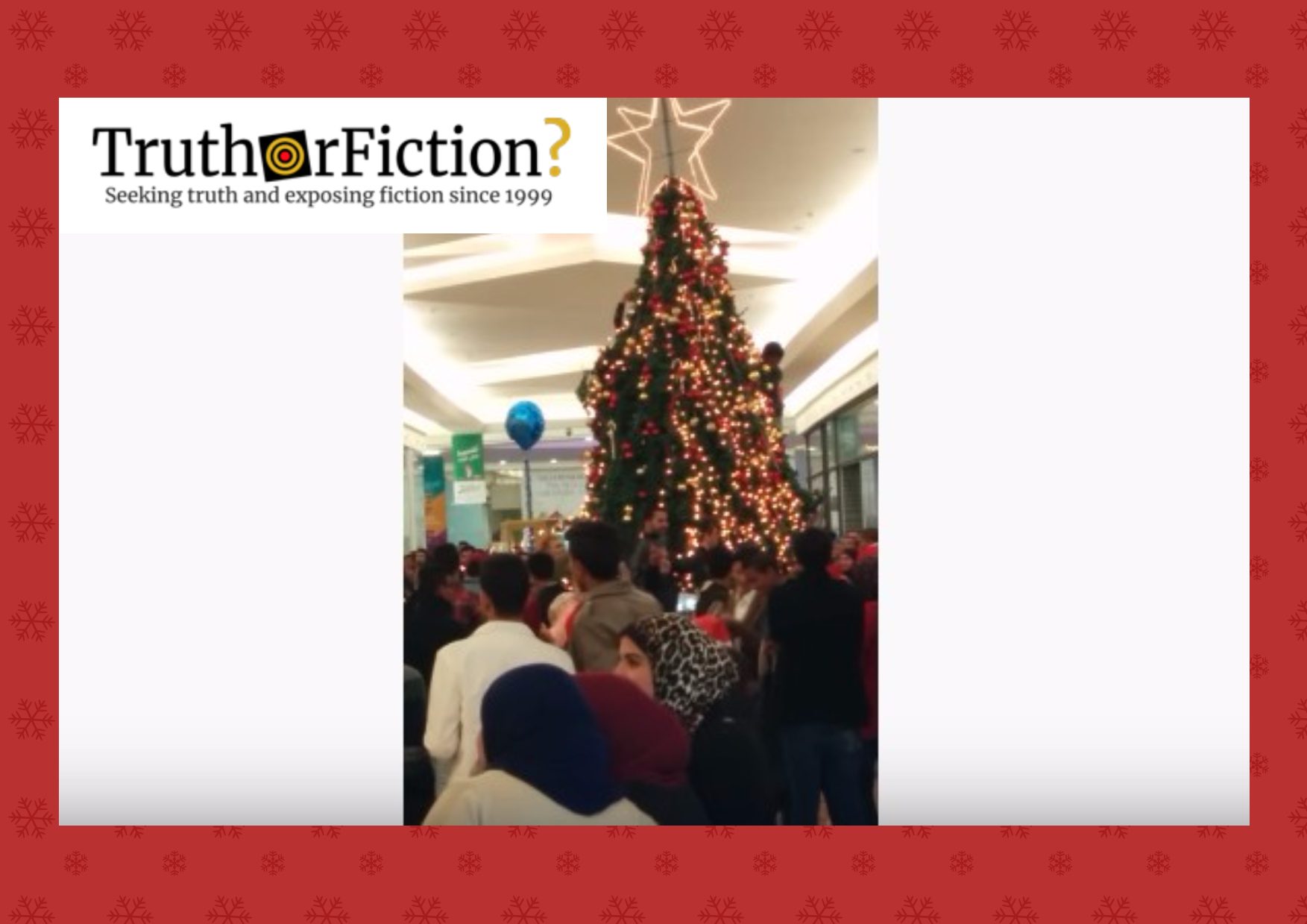 Muslims Attack Christmas Tree in Mall?
