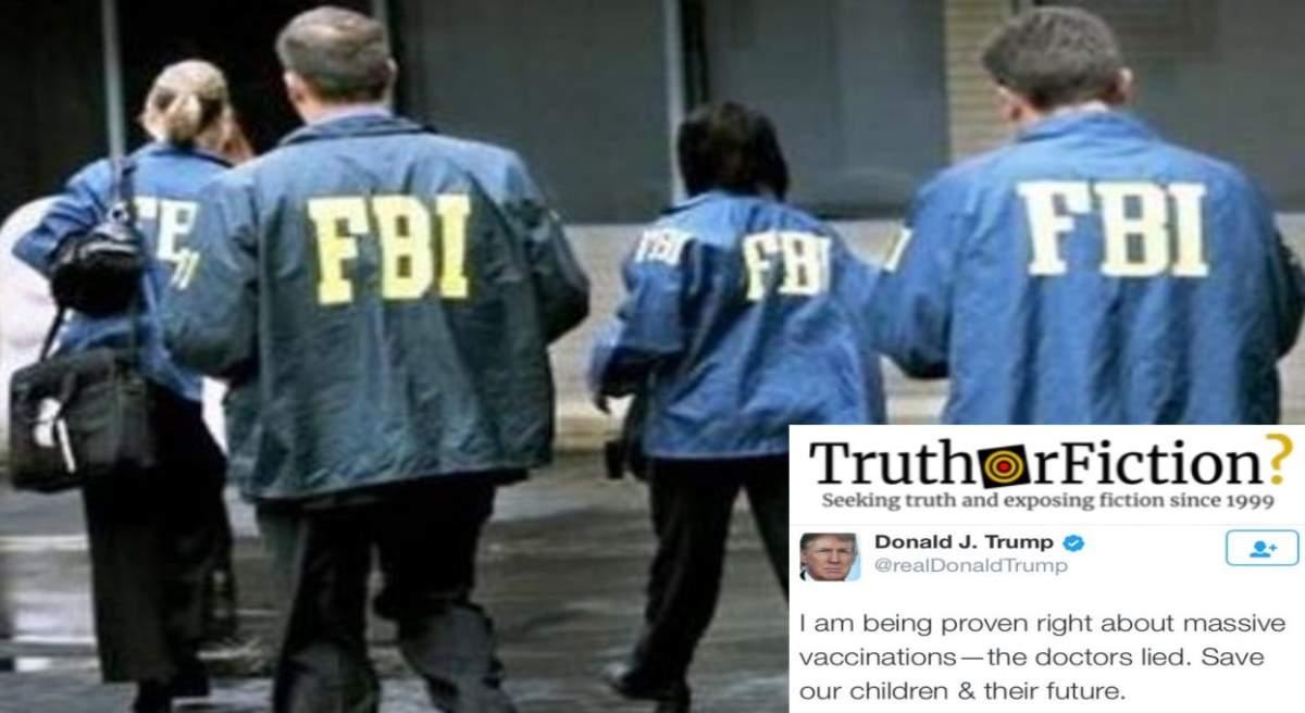 Did Trump Order the FBI to Raid CDC Headquarters?