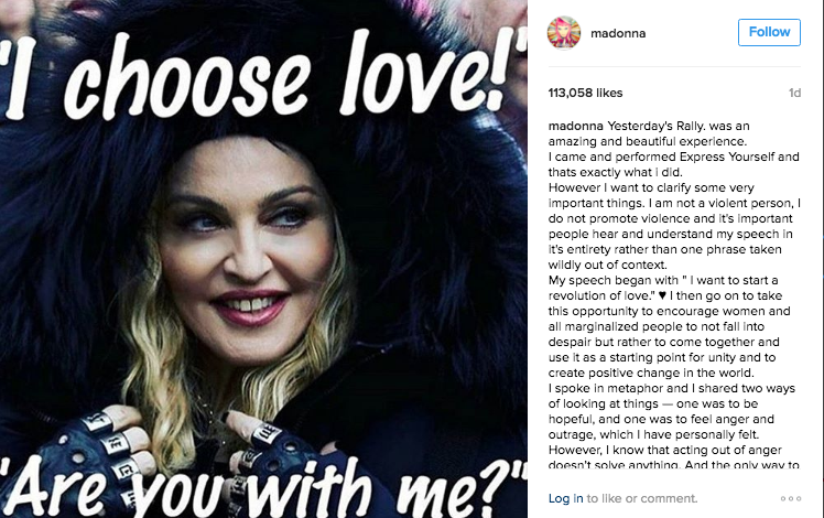 Madonna blow up white house