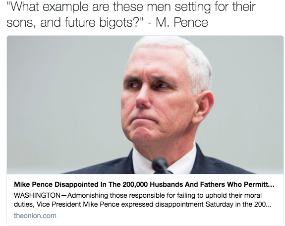 Mike Pence Disappointed