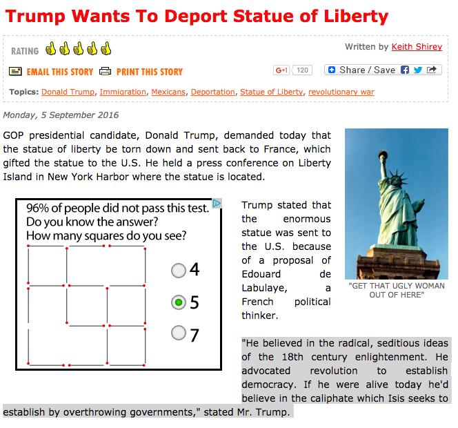 Trump statute of liberty