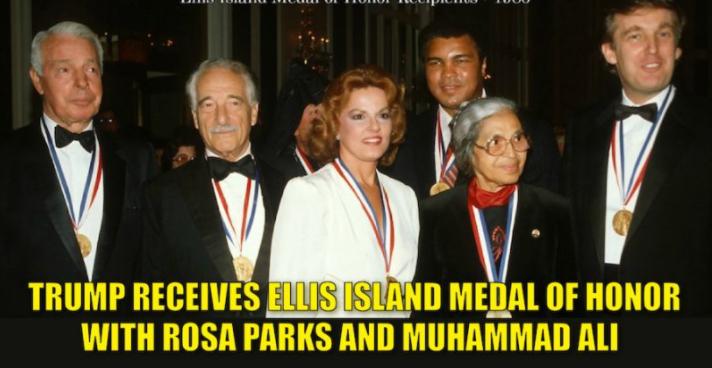 Donald Trump Ellis Island Medal of Honor