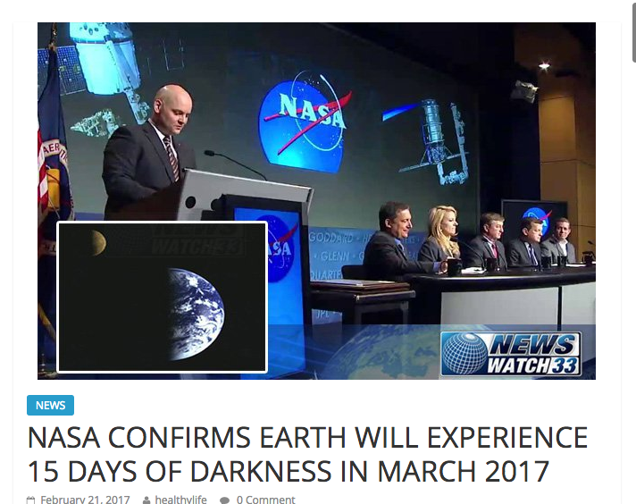 days of darkness march 2017