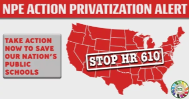 H.R. 610 defund public education