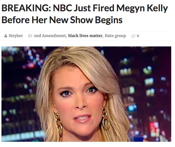 Megyn Kelly Fired by NBC