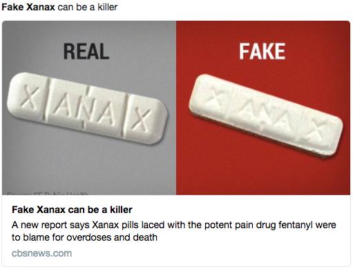 fake xanax kills
