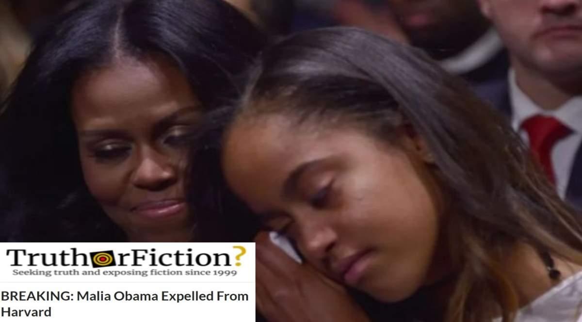 Was Malia Obama Expelled From Harvard for Smoking Marijuana?