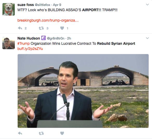 trump organization syrian airport