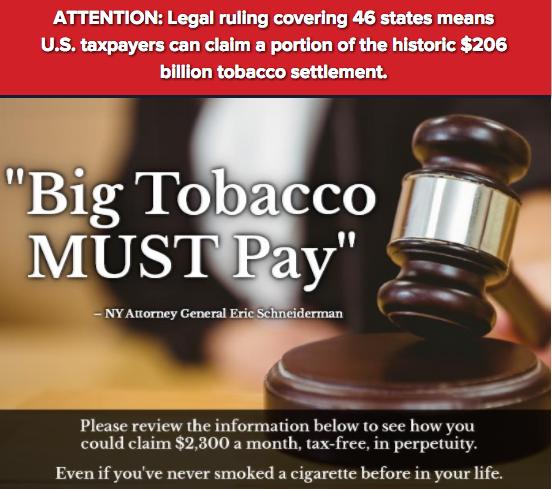 Big Tobacco Must pay