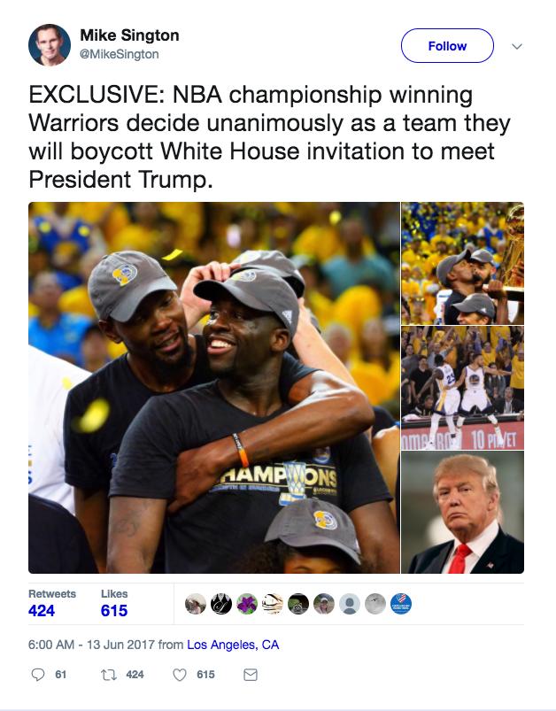 Golden State Warriors White House