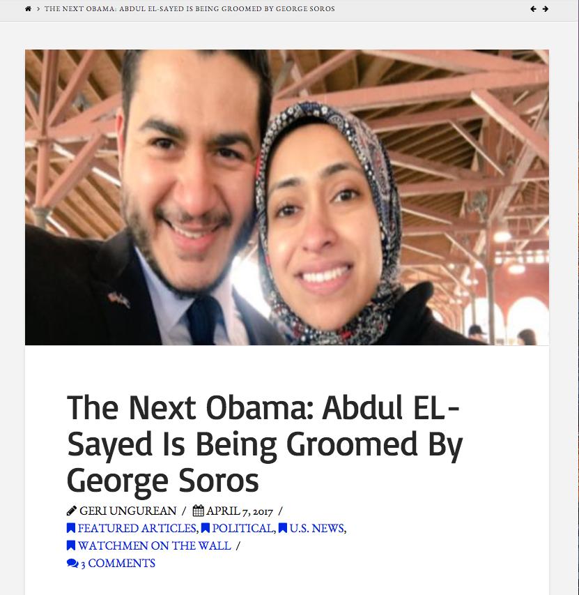 Abdul El-Sayed George Soros