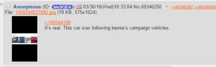 Bernie Sanders Audi R8