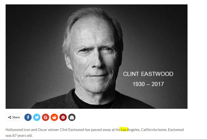 Clint Eastwood death hoax