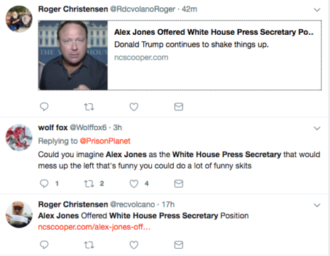alex jones press secretary