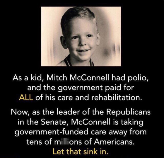 mitch mcconnell had polio