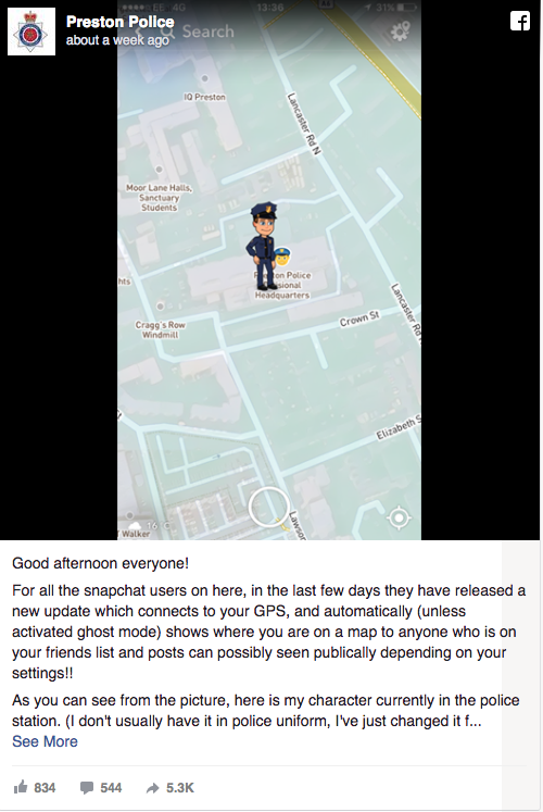 snapchat location