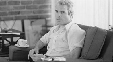 Lieutenant Commander McCain being interviewed after his return from Vietnam, April 1973.