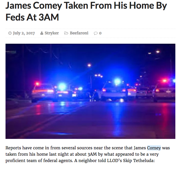 Jim Comey arrested