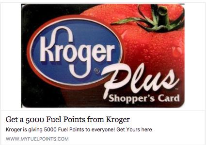 kroger 5,000 fuel points