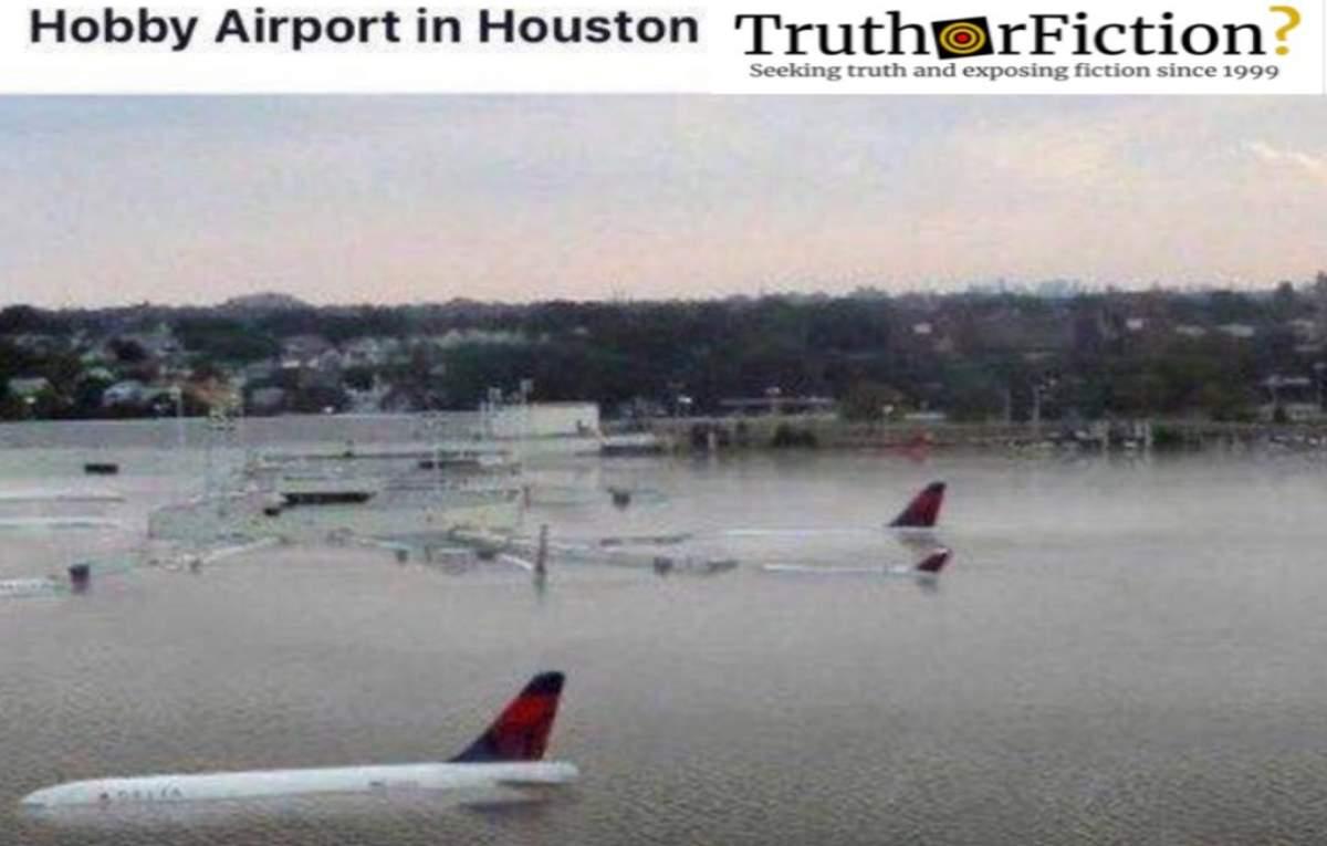 Did Hurricane Harvey Flood the Runway at William P. Hobby Airport?