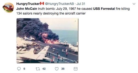 John McCain USS Forrestal