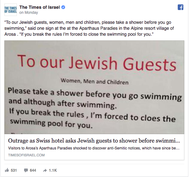 swiss hotel sign jewish guests