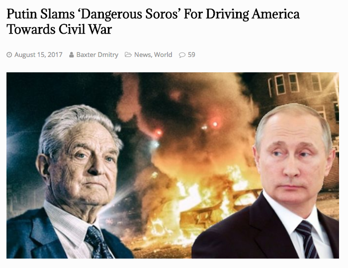 Putin Soros Civil War