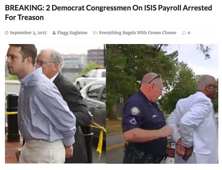 congressmen arrested treason