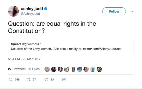 Ashley Judd tweets