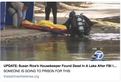 Susan Rice Housekeeper dead