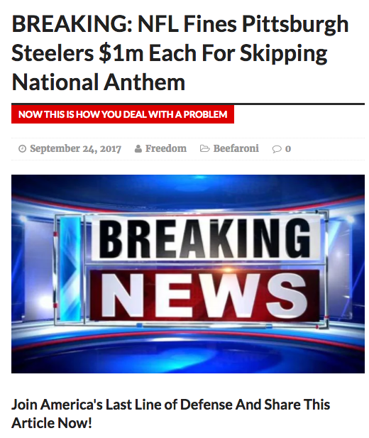 National Anthem Protest