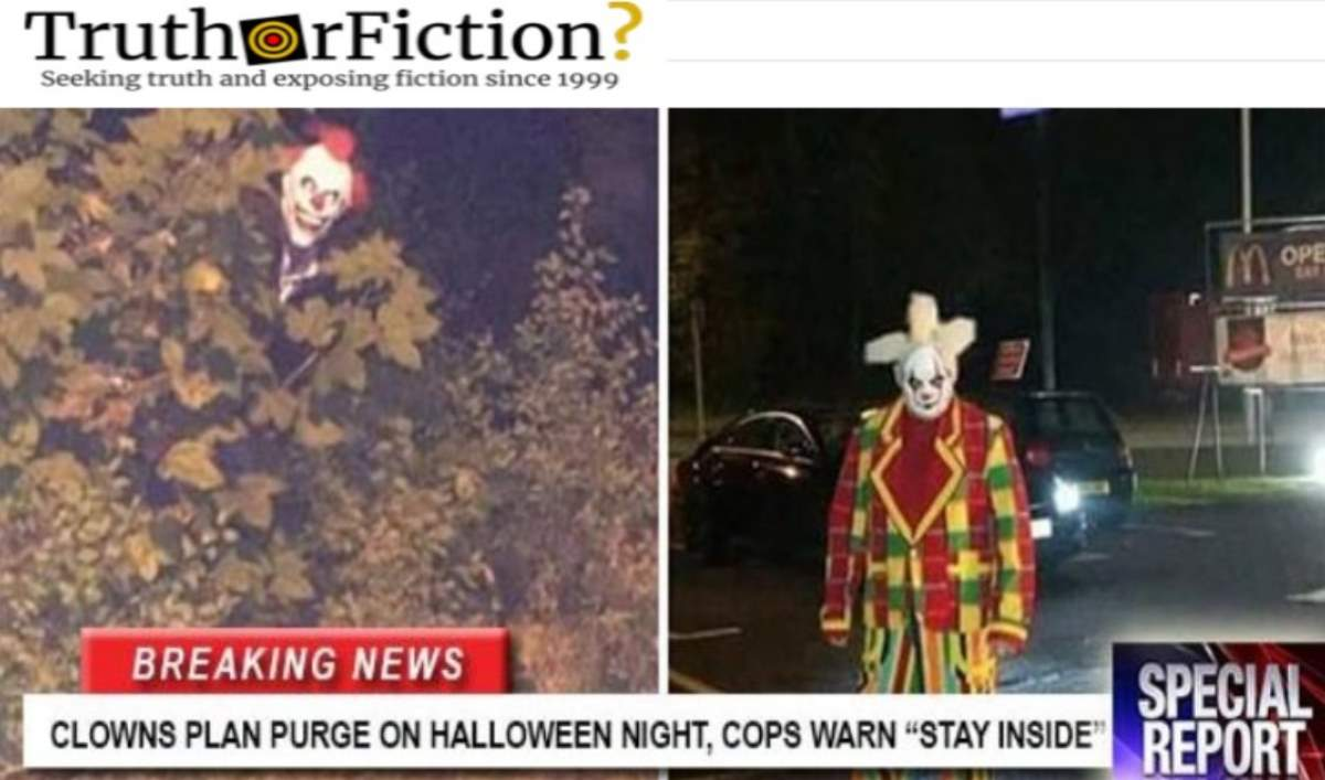 Did 'Creepy Clowns' Threaten to Carry Out a Halloween 'Purge'?