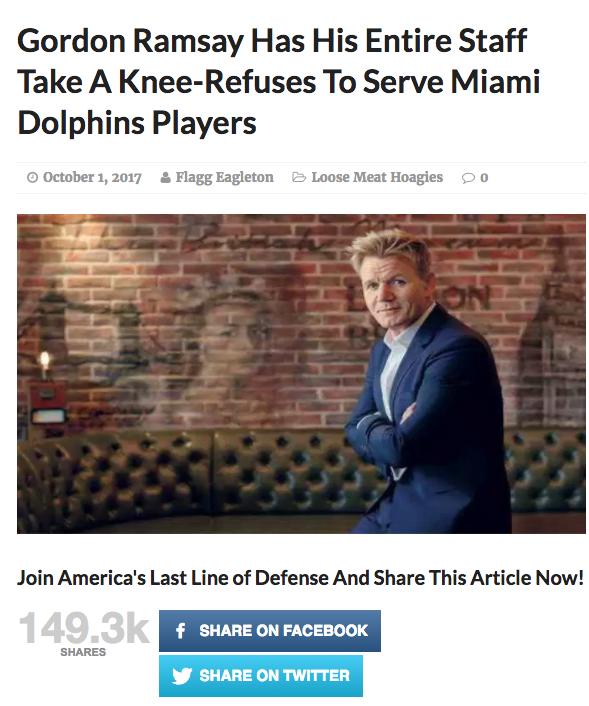 Gordon Ramsay takes a knee
